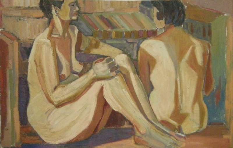 "Nana Isaia, ""Two Naked Women"""