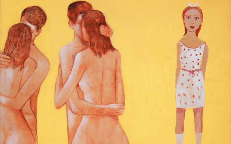 """Girl wearing white dress"" Painting by Edouardos Sakagian, 2000"