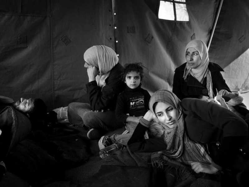 Refugees in Greece. Photo by Enri Canaj